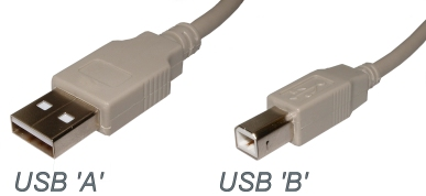 USB A and B connectors